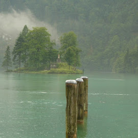 konig see by Francisco Cardoso - Landscapes Waterscapes ( piers, fog, lake, konigsee, misty )