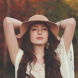 Feelin Groovy by Molly Chalfin - People Portraits of Women ( hippy groovy fall )