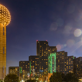 Dallas at Night by Carl Albro - Buildings & Architecture Office Buildings & Hotels ( dallas, buildings, night )
