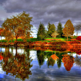 by Jean Verret - City,  Street & Park  City Parks ( nature park autumn, landscape )
