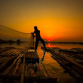 Fisherman by Muhammad Yoserizal - Landscapes Sunsets & Sunrises (  )