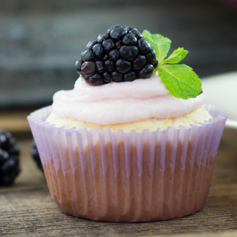Brightly Beautiful Blackberry Delight Cupcakes