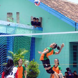 Jump Smash by Mega Yu - Sports & Fitness Other Sports ( volleyball, sports, smash, photography, jump,  )
