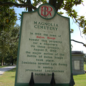 In 1852 the town of Baton Rouge bought this property for a cemetery. On these grounds, August 5, 1862, the major action of the Battle of Baton Rouge took place. Louisiana novelist Lyle Saxon is among ...