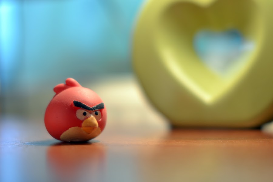 Angry Bird by Varga Attila - Artistic Objects Toys ( bird, heart, toy, angry )