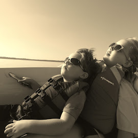 Laying back on the Boat by Kim Tindol - Babies & Children Children Candids