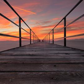 Infinity by Christos Petalas - Buildings & Architecture Bridges & Suspended Structures ( amazing, kos, wood, petalas, sunset, popular, greece, long exposure, bridge, deck, landscapes, landscape, golden hour )