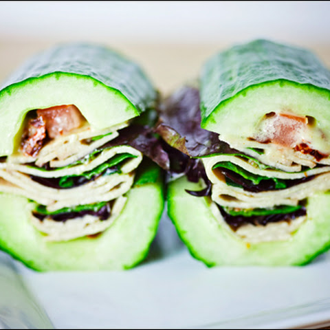 Vegan Faux Turkey Veggie Cucumber-Wich