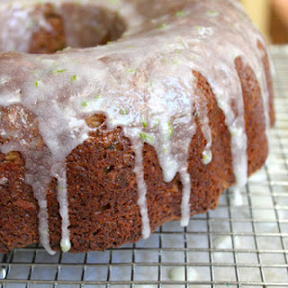 Zucchini Coconut Cake with Lime Glaze