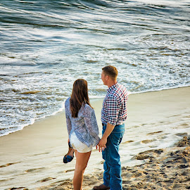 Ocean Side Romance 4 by Linda Tiepelman - People Couples ( a westin resort, honolulu, tourism, ocean, romance, love, vacation, woman, moana surfrider, couple, man, hawaii, spa )