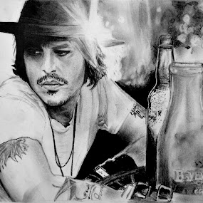 Johnny Depp by Ram Sekhar - Drawing All Drawing (  )