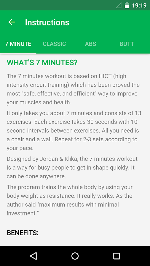 7 Minute Workout Screenshot 7