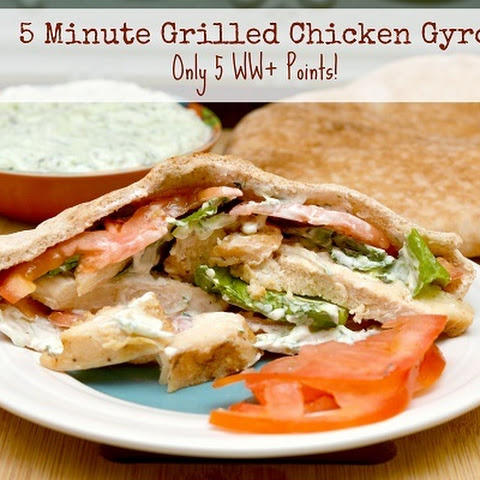 5 Minute Grilled Chicken Gyro