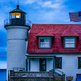 Pointe Betsy Lighthouse by Andrew Christmann - Buildings & Architecture Public & Historical ( sleeping bear dunes, michigan, point betsie lighthouse, lake michigan, lighthouse )