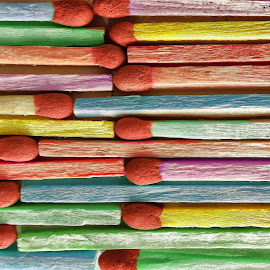 colorful matches by Ana Paula Filipe - Abstract Patterns ( many, matches, pattern, colorful, close )