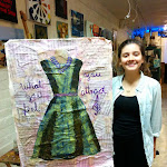 Mixed Media Dress Painting