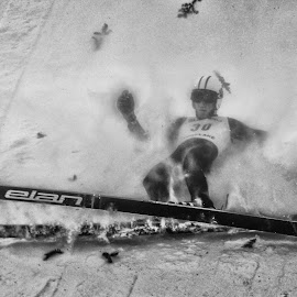 Agony of Defeat by Tom Anderson - Sports & Fitness Snow Sports ( winter, olympics, snow sports, winter sports, ski jumping )