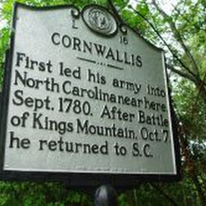 First led his army into North Carolina near here, Sept. 1780. After Battle of Kings Mountain, Oct. 7, he returned to S.C.Plaque via North Carolina Highway Historical Marker Program, and is used with ...