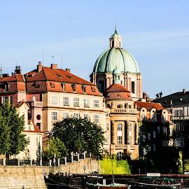 Prague Vltava River by Sue Huhn - Buildings & Architecture Public & Historical ( vltava river, czech republic, prague )