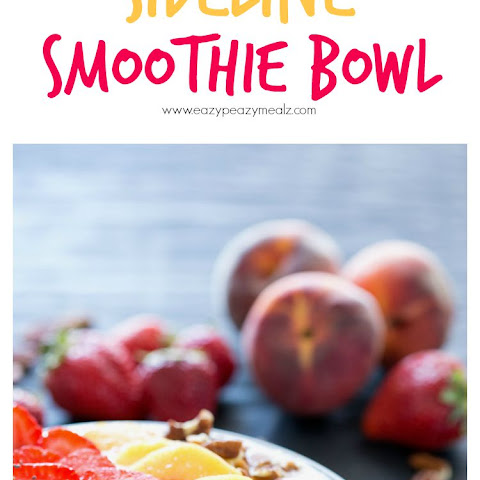 Strawberry Peach Sideline Smoothie Bowl