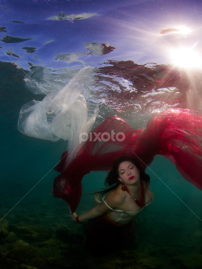 Mermaid Tales by Rico Besserdich - People Fine Art ( siren, model, underwater, sea, ocean, mermaid )