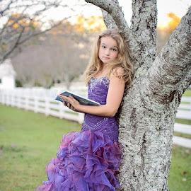 Purple Beauty by Elan Houstonfashion - Babies & Children Child Portraits ( love, model, dress up, prom, beauty )