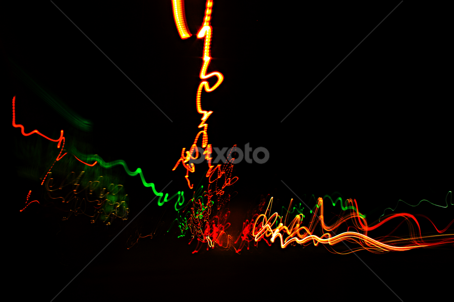 Gone crazy. by Kelly Williams - Abstract Light Painting ( lights, lightning, going, time, distance, speed, crazy, colours )