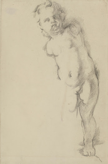 <b>Cézanne</b> drew from this plaster sculpture of Cupid for a period of over thirty years. While it may seem unfinished, it is likely that <b>Cézanne</b> left out the figure's right leg in order to accentuate its dynamic thrust.