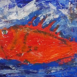Rad fish by Vanja Škrobica - Painting All Painting