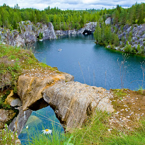 Ruskeala by Alexey Petrov - Nature Up Close Rock & Stone ( water, russia, ruskeala, karelia )
