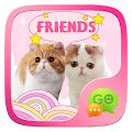 (FREE) GO SMS CAT STICKER APK for Bluestacks