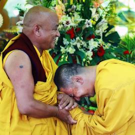 Respect by Steven De Siow - People Group/Corporate ( monks, spiritual teacher, tibetan, people, rinpoche )