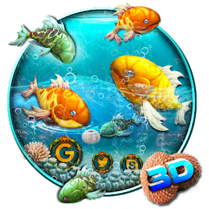 3d abstract sea fish theme