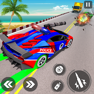 Police Car Racing Simulator: Traffic Shooting Game For PC