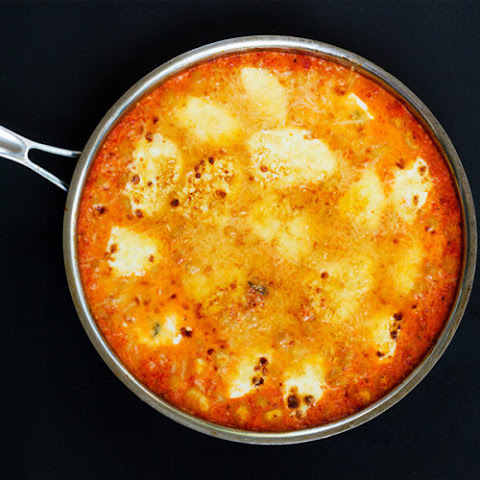 Gnocchi in Spicy Roasted Red Pepper and Tomato Sauce