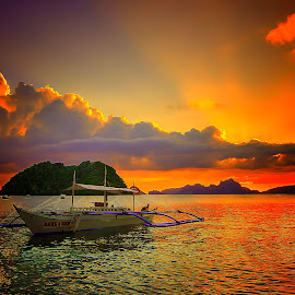 palawan by Joel Adolfo  - Transportation Boats ( boats, transportation )