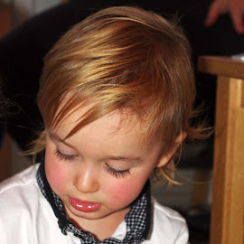 Concentration by Ingrid Anderson-Riley - Babies & Children Children Candids