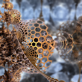 Emulating Haggett by Ricky Jarnagin - Illustration Abstract & Patterns ( abstract, ricky jarnagin, dysnegrafix, mandelbulb, 3d art, fractal )