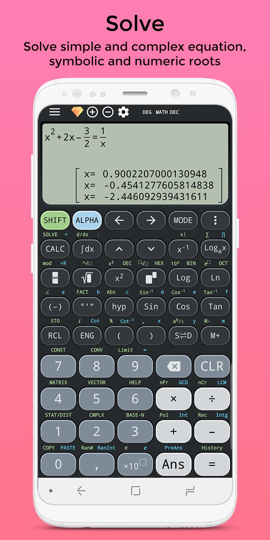 Complex calculator & Solve for x TI-36 TI-84 Plus Screenshot 1