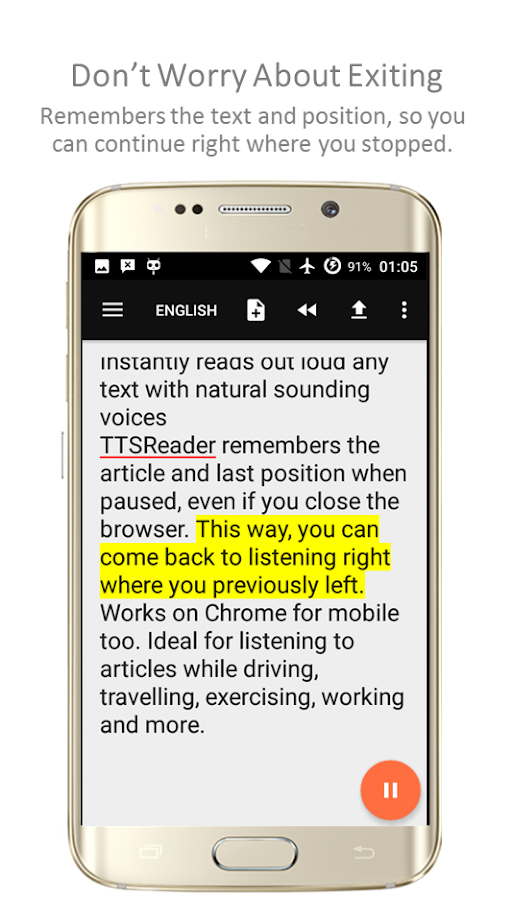 TTSReader Pro - Text To Speech Screenshot 2