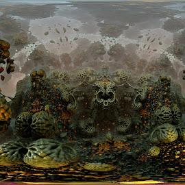 The Skeleton Crew by Rick Eskridge - Illustration Sci Fi & Fantasy ( fantasy, skeleton, mb3d, fractal, twisted brush )