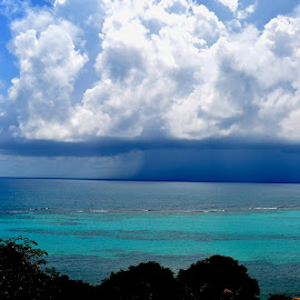 Storm at sea from South Shore by Liz Rosas - Landscapes Weather