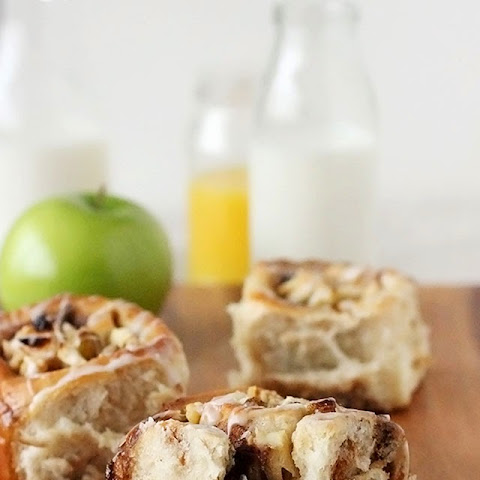 Apple Walnut Raisin Cinnamon Rolls