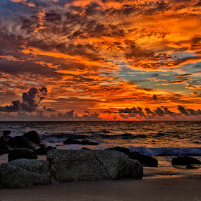 Sunset by Charliemagne Unggay - Landscapes Weather ( landscape, beach )