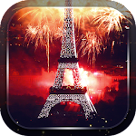 Eiffel Tower Fireworks Icon