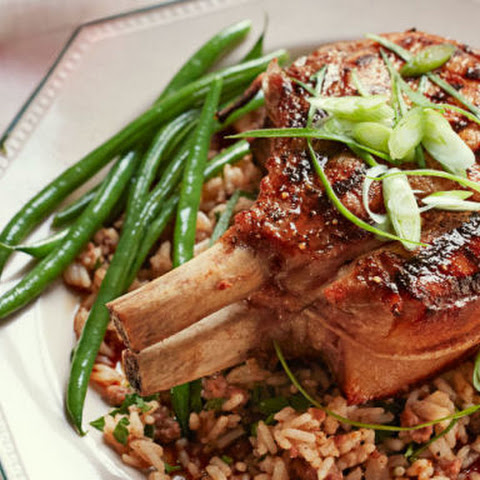 "Sweet 'n' Sticky Pork Chops with ""Dirty"" Rice"
