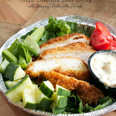 Fried Chicken Chop Salad with Creamy Buttermilk Ranch