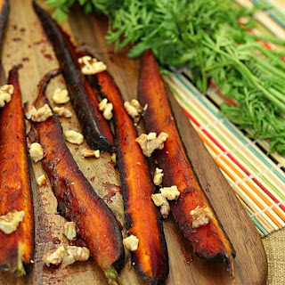Pomegranate Molasses Glazed Carrots with Walnuts