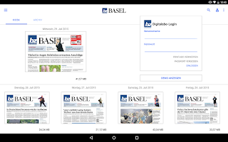 Screenshot of bz Basel E-Paper