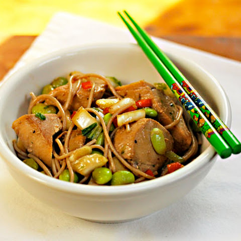 Ginger-lime Tuna With Buckwheat (soba) Noodles